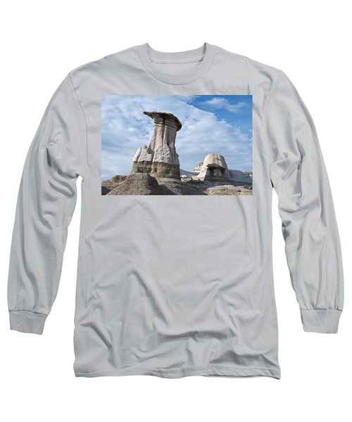 Capped Hoodoo And Clouds Long Sleeve T-Shirt