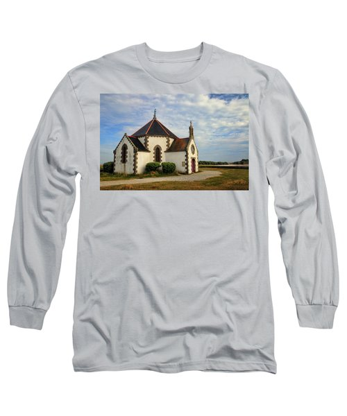 Long Sleeve T-Shirt featuring the photograph Church Off The Brittany Coast by Dave Mills