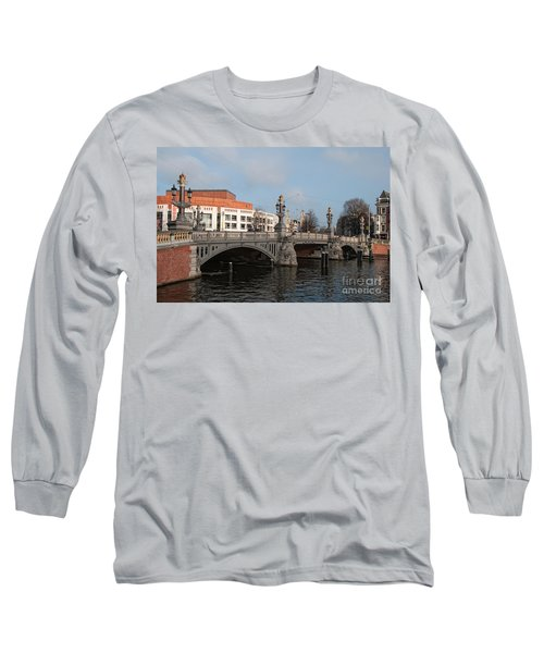 Long Sleeve T-Shirt featuring the digital art City Scenes From Amsterdam by Carol Ailles