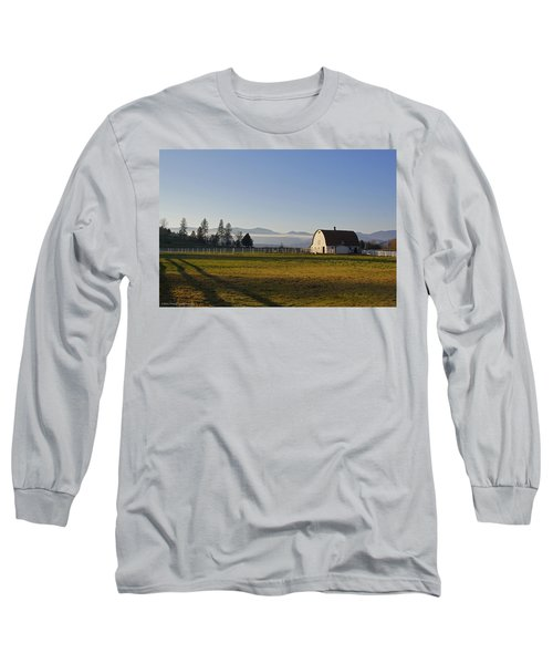 Classic Barn In The Country Long Sleeve T-Shirt by Mick Anderson