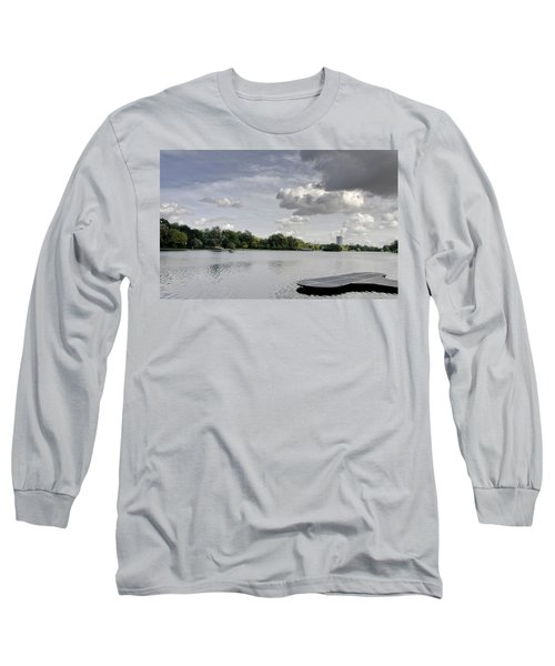 Long Sleeve T-Shirt featuring the photograph Cloudy Hyde Park by Maj Seda