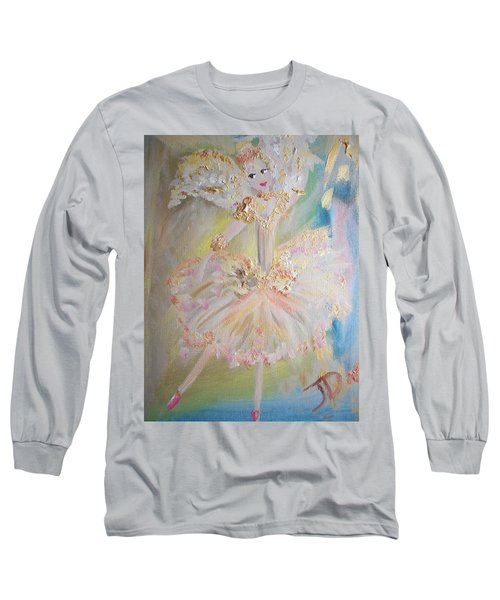 Coffee Fairy Long Sleeve T-Shirt by Judith Desrosiers