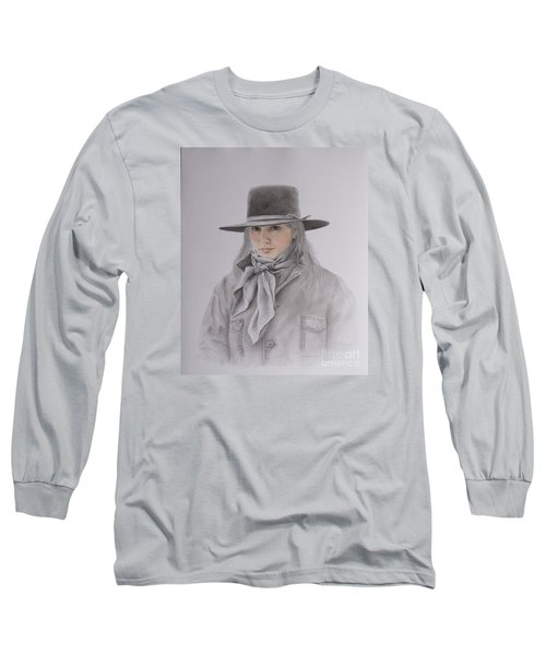 Cowgirl In Hat Long Sleeve T-Shirt