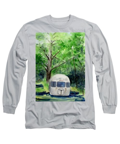 Long Sleeve T-Shirt featuring the painting Early Summer At The Geddes Farm 1 --ann Arbor  Michigan by Yoshiko Mishina