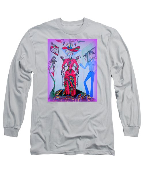 Long Sleeve T-Shirt featuring the painting Eleonore Friend Von Claus by Marie Schwarzer