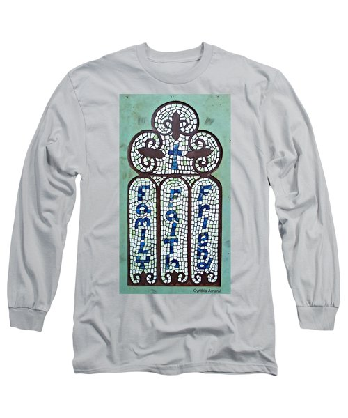 Long Sleeve T-Shirt featuring the painting Family Faith Friend by Cynthia Amaral