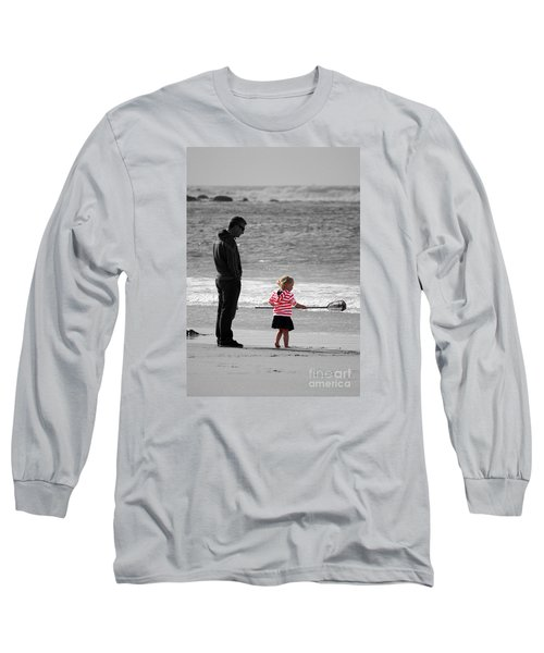 Long Sleeve T-Shirt featuring the photograph Fish With Me Daddy by Terri Waters