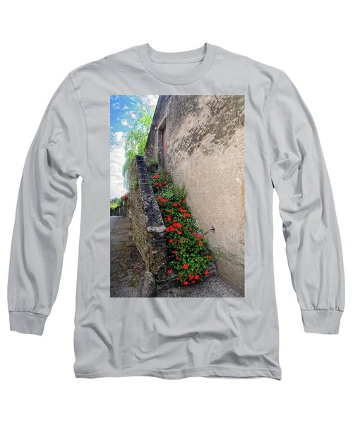 Long Sleeve T-Shirt featuring the photograph Flower Stairway by Dave Mills