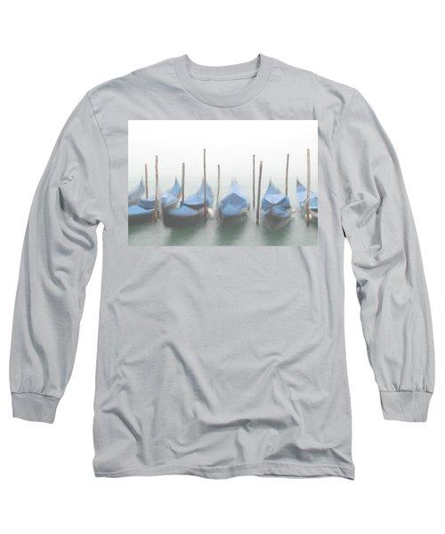 Foggy Morning Grand Canal Long Sleeve T-Shirt