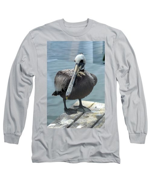 Friendly Pelican Long Sleeve T-Shirt by Carla Parris