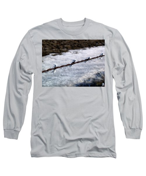 Frosty Barb Wire Long Sleeve T-Shirt
