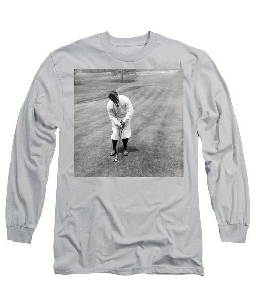 Long Sleeve T-Shirt featuring the photograph Gene Sarazen Playing Golf by International  Images