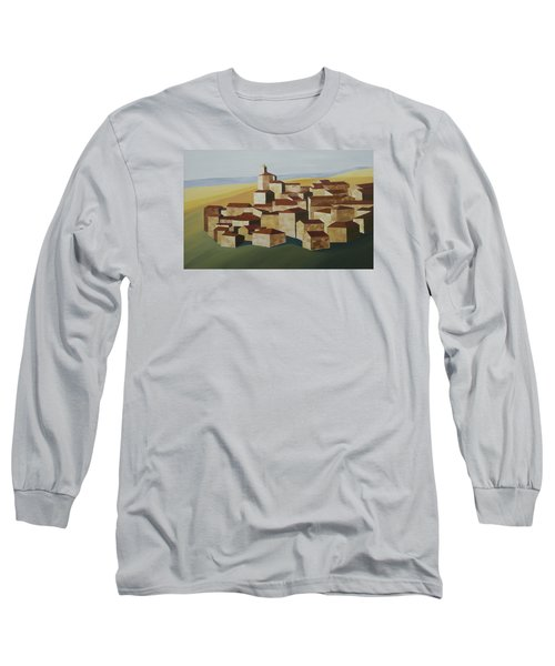 Geometric Village Spain Long Sleeve T-Shirt