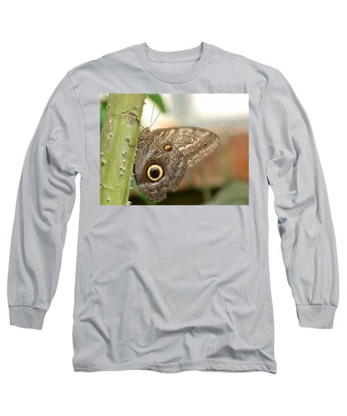 Long Sleeve T-Shirt featuring the photograph Giant Owl Butterfly by Lynn Bolt