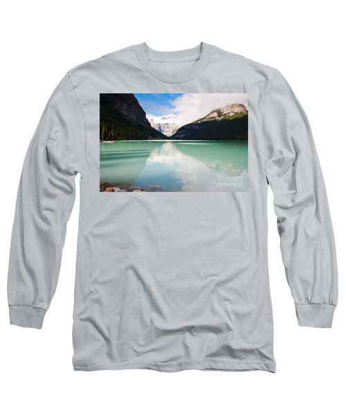 Long Sleeve T-Shirt featuring the photograph Gorgeous Lake Louise by Cheryl Baxter