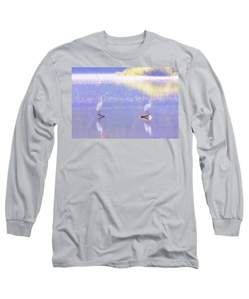 Great White Heron Long Sleeve T-Shirt