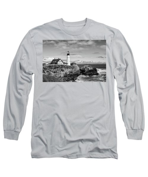 Guarding Ship Safety Bw Long Sleeve T-Shirt