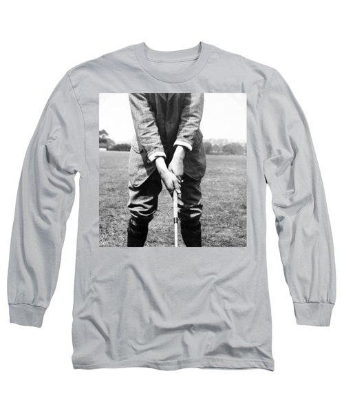 Long Sleeve T-Shirt featuring the photograph Harry Vardon Displays His Overlap Grip by International  Images