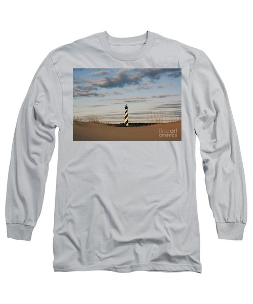 Hatteras Lighthouse And The Smiling Dune Long Sleeve T-Shirt