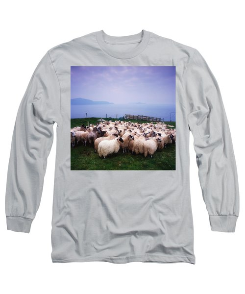 Herding Sheep, Inishtooskert, Blasket Long Sleeve T-Shirt