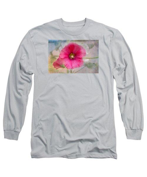 Hollyhock Long Sleeve T-Shirt by Lena Auxier