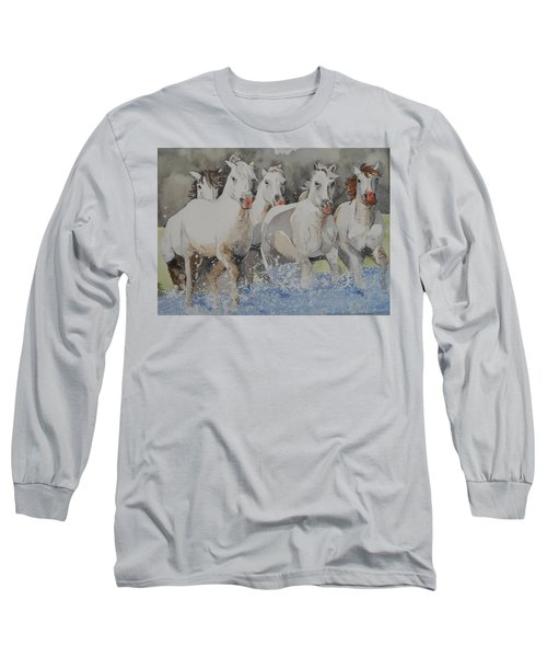 Horses Thru Water Long Sleeve T-Shirt