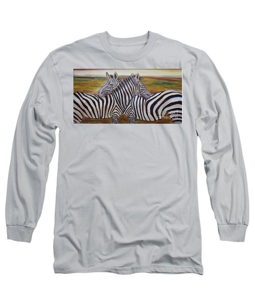 Long Sleeve T-Shirt featuring the painting I Think Its This Way by Julie Brugh Riffey