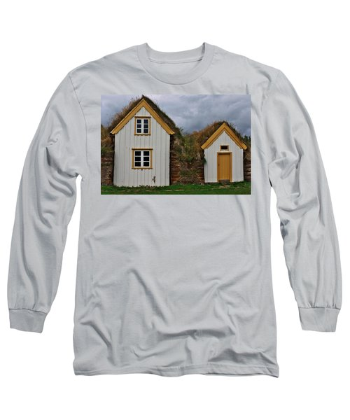 Icelandic Turf Houses Long Sleeve T-Shirt