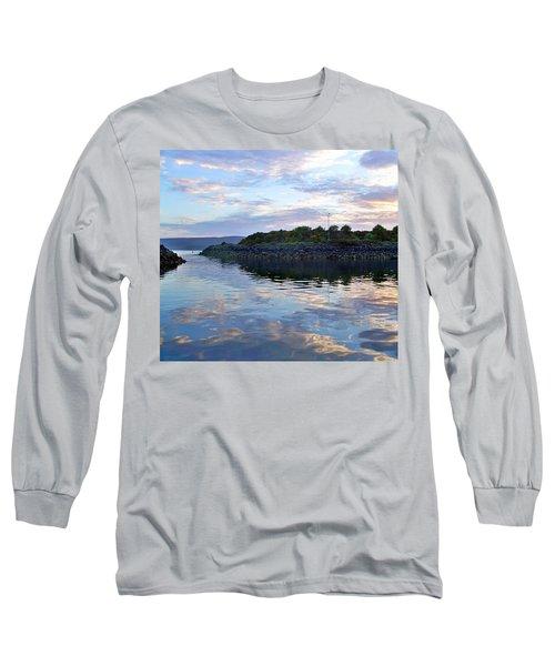 Long Sleeve T-Shirt featuring the photograph Inverkip Marina by Lynn Bolt