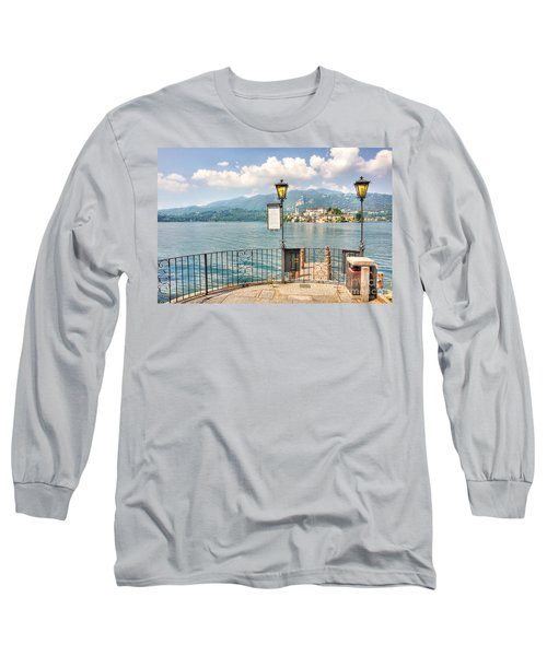 Island San Giulio On Lake Orta Long Sleeve T-Shirt