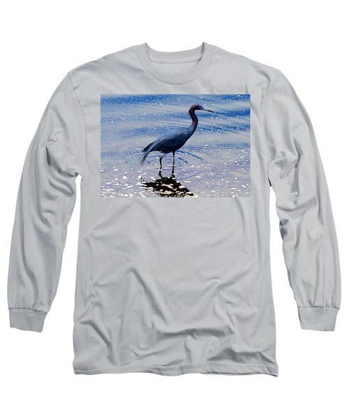 Long Sleeve T-Shirt featuring the photograph Lit'l Blue by Elizabeth Winter