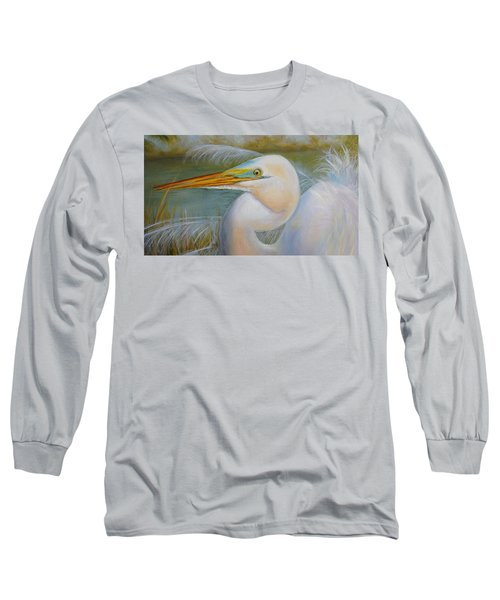 Long Sleeve T-Shirt featuring the painting Marsh Master by Marlyn Boyd