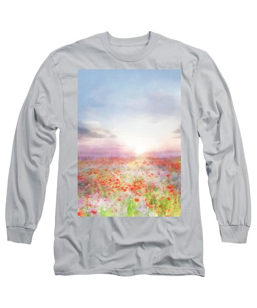 Meadow Flowers Long Sleeve T-Shirt by Francesa Miller