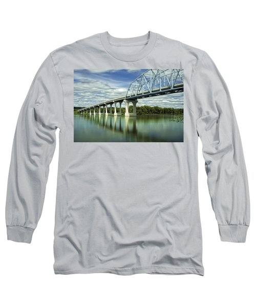 Long Sleeve T-Shirt featuring the photograph Mississippi River At Wabasha Minnesota by Tom Gort