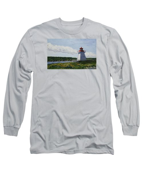 Neil's Harbor Light Long Sleeve T-Shirt by Alan Mager
