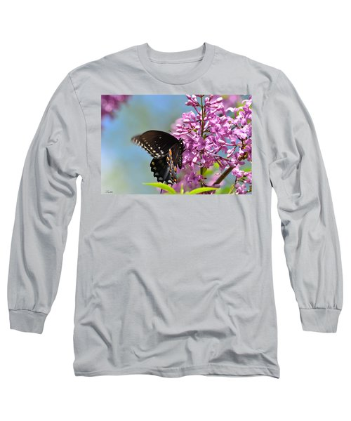 Nothing Says Spring Like Butterflies And Lilacs Long Sleeve T-Shirt