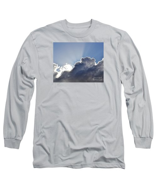 Partly Cloudy Long Sleeve T-Shirt by Rebecca Margraf