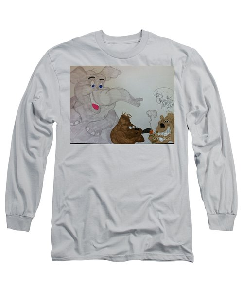 Partying Animals Cartoon Long Sleeve T-Shirt