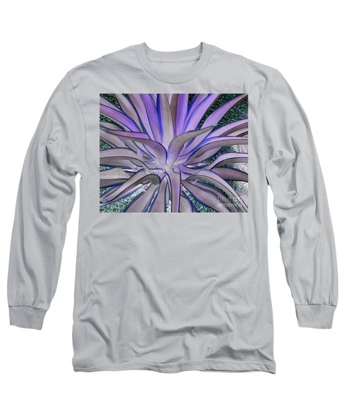 Purple Aloe Long Sleeve T-Shirt by Rebecca Margraf