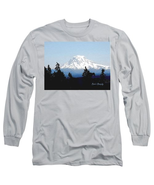 Long Sleeve T-Shirt featuring the photograph Rainier Reign by Sadie Reneau