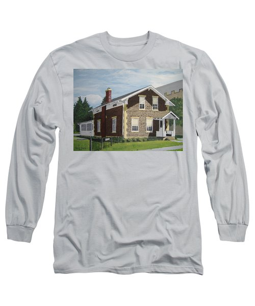 Long Sleeve T-Shirt featuring the painting Rasey House by Norm Starks