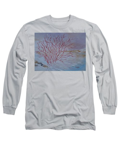 Long Sleeve T-Shirt featuring the painting Red Branches by Judith Rhue