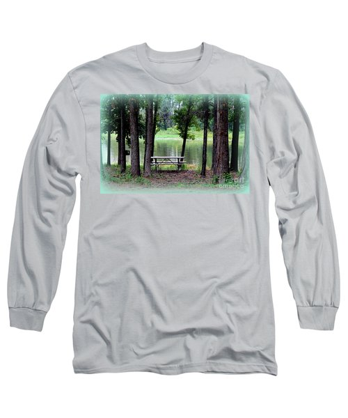 Long Sleeve T-Shirt featuring the photograph Serene Escape by Kathy  White