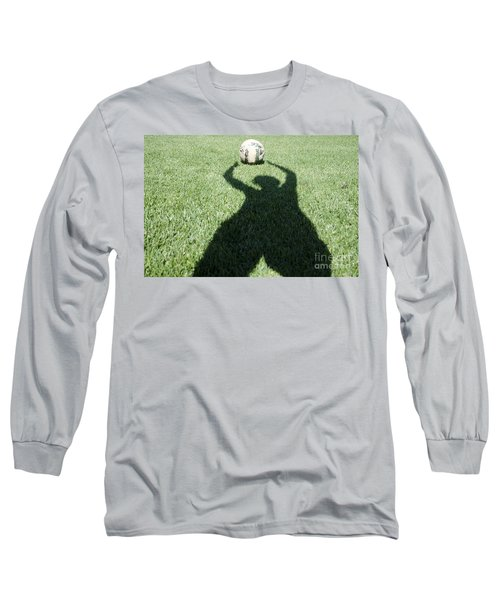 Shadow Playing Football Long Sleeve T-Shirt