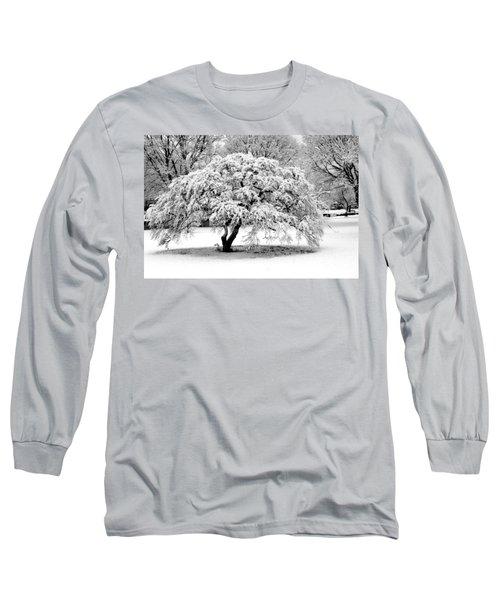 Snow In Connecticut Long Sleeve T-Shirt by John Scates