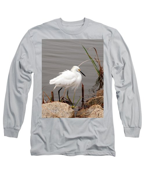 Long Sleeve T-Shirt featuring the photograph Snowy Egret by Kay Lovingood