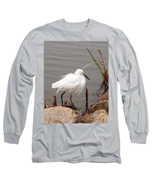 Snowy Egret Long Sleeve T-Shirt by Kay Lovingood