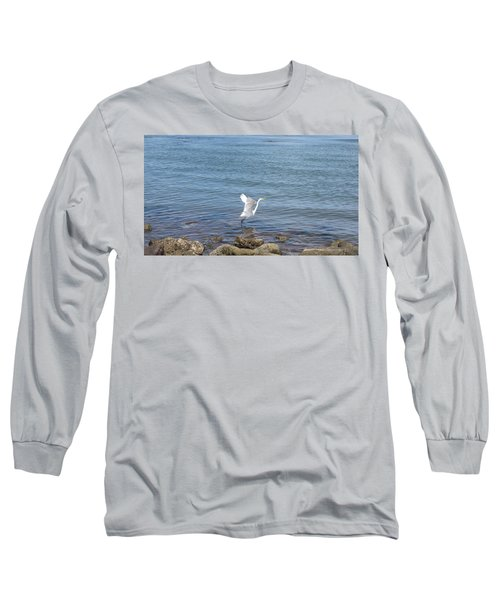 Long Sleeve T-Shirt featuring the photograph Snowy Egret by Marilyn Wilson