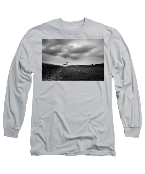 Storm Clouds Gather Over Church Long Sleeve T-Shirt