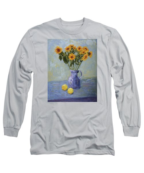 Sunflowers And Lemons Long Sleeve T-Shirt